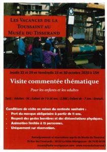 LES VACANCES DE LA TOUSSAINT AU MUSÉE DU TISSERANDS