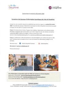 FERMETURE DE L OFFICE DU TOURISME